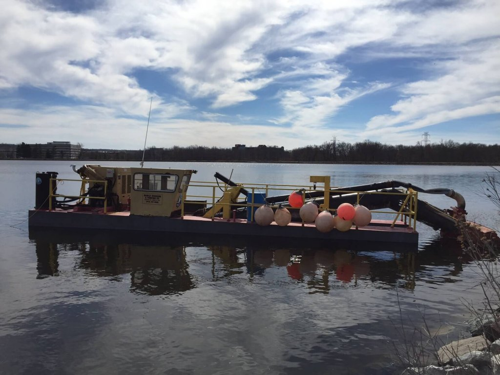 Hydraulic dredging project