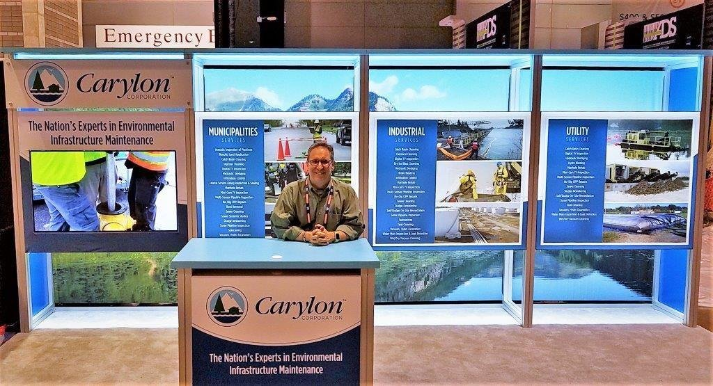 Carylon's Marketing Director Lew Klein at WEFTEC 2017